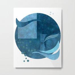 Blue Summer Ocean Vibe Metal Print