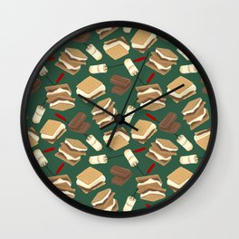 S'mores Wall Clock