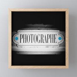 Photographe Photograph Framed Mini Art Print