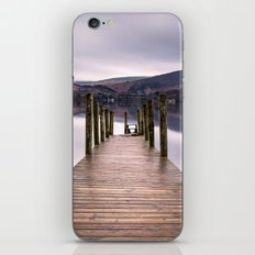 Lake View with Wooden Pier iPhone & iPod Skin