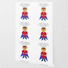 When I grow up I'll be a superhero like my dad Wallpaper