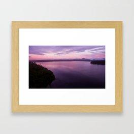 mahinapua golden hours purple reflections Framed Art Print