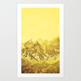 Mountains Yellow Art Print