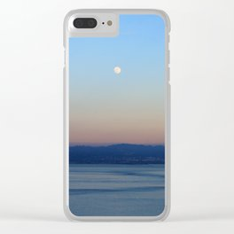 The Bay and the Moon Clear iPhone Case