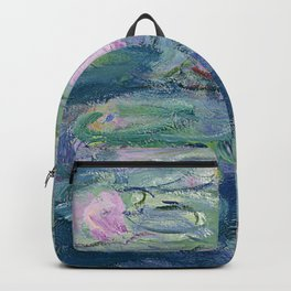 Water Lilies Claude Monet Fine Art Backpack