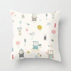 Funny Bears Throw Pillow