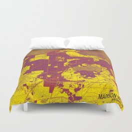Madison West Wisconsin vintage map year 1959, rustic map, poster map Duvet Cover