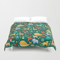 animals Duvet Covers featuring Animals by Emma Randall