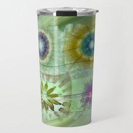 Scald Bared Flowers  ID:16165-022215-51851 Travel Mug