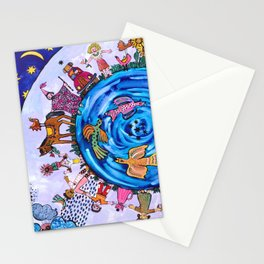 We are all one being Stationery Cards