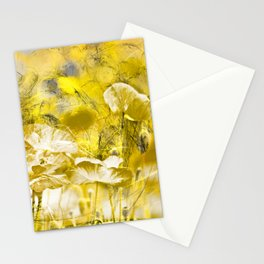 Wild poppy abstract-2 Stationery Cards