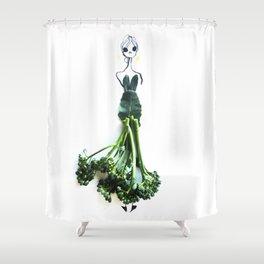 Edible Ensembles: Broccolini Shower Curtain