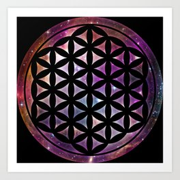 Flower of Heavenly Life Art Print