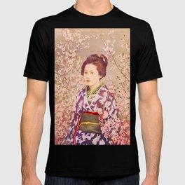 Royal Tokyo Geisha - Watercolor Vintage Graphic T-shirt