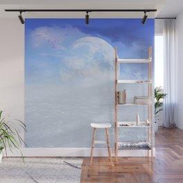 Desert Moon in Full Blue Wall Mural