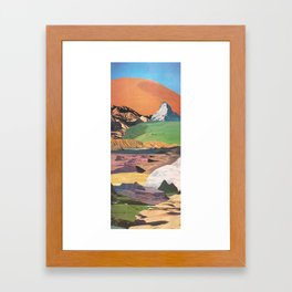 Peaks And Plateaus Framed Art Print