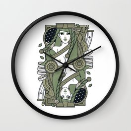 Eva Queen of Club - Pyrrha Wall Clock