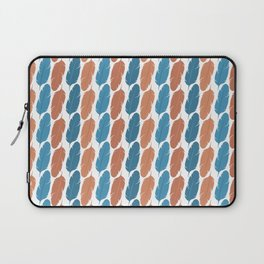 Southwestern Desert Feather Stripes in Terracotta Orange and Turquoise Blue Laptop Sleeve