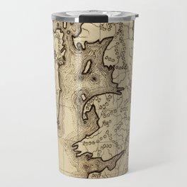 Vintage Map of The British Isles (1850) Travel Mug