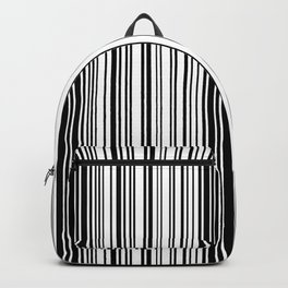 Barcode Pattern Backpack