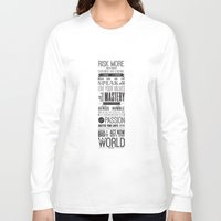 motivational Long Sleeve T-shirts featuring Lab No. 4 - Robin Sharma Motivational Quotes Poster by Lab No. 4