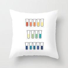 pH Indicators Throw Pillow