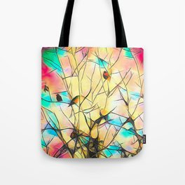 Robins In Trees Tote Bag