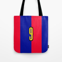 soccer team jersey number nine Tote Bag