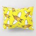 Bees on Yellow by brucestanfieldartistpatterns