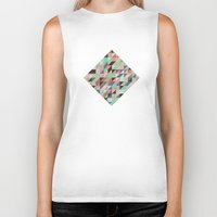 triangle Biker Tanks featuring Triangle by Crazy Thoom