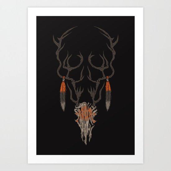 darkness within Art Print
