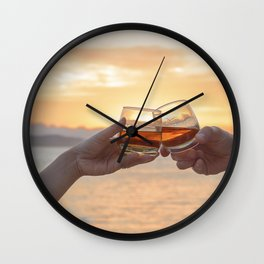 Romantic Evening Toast Wall Clock