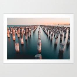 Melbourne, Australia #society6 #decor #buyart Art Print