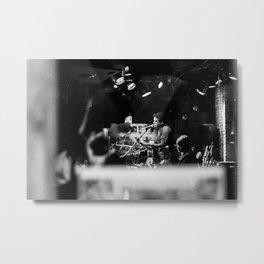 Singer playing the Flute, B Metal Print