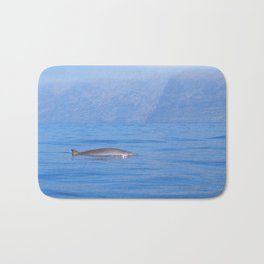 Beaked whale in the mist Bath Mat