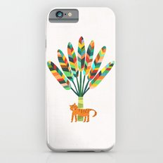 Whimsical travelers palm with tiger Slim Case iPhone 6s