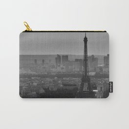 Black &White Paris From Above Carry-All Pouch