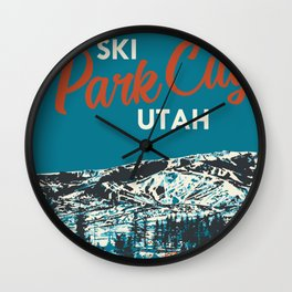 Park City Vintage Ski Poster Wall Clock