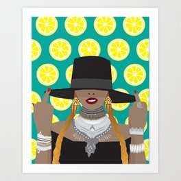 Lemonade Bey Formation Art Print