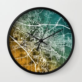 Iowa City Map Wall Clock