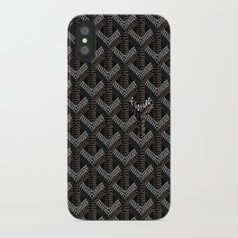 Goyard Black iPhone Case