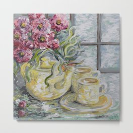 Morning Tea for Two Metal Print