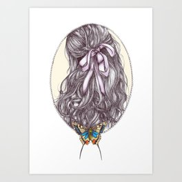 Bow and Butterfly Art Print