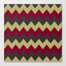 Cranberry Chevron Canvas Print