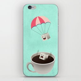 Sugar Cubes Jumping in a Cup of Coffee iPhone Skin