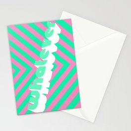 Whatever (stripes) Stationery Cards
