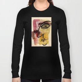 "Funky Face Abstract, ""I See 38"" by Kathy morton Stanion Long Sleeve T-shirt"