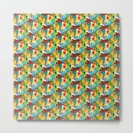 Monkey Pattern Metal Print