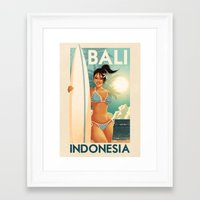 indonesia Framed Art Prints featuring Indonesia - Bali by Rui Ricardo