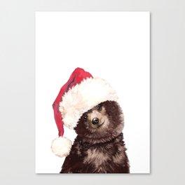 Christmas Baby Bear Canvas Print